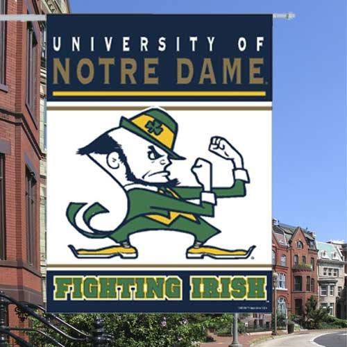 "NCAA Notre Dame Fighting Irish Banner, 27""x37"", Team Color"