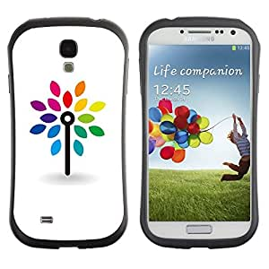 "Pulsar iFace Series Tpu silicona Carcasa Funda Case para SAMSUNG Galaxy S4 IV / i9500 / i9515 / i9505G / SGH-i337 , Limpie blanca minimalista arco iris"""