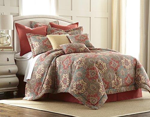 Sherry Kline 4 Piece Aladdin Comforter Set, Multi Color, Que