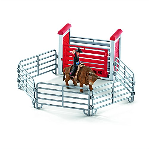 [Schleich North America Bull Riding with Cowboy Playset] (Bull Rider Rodeo)