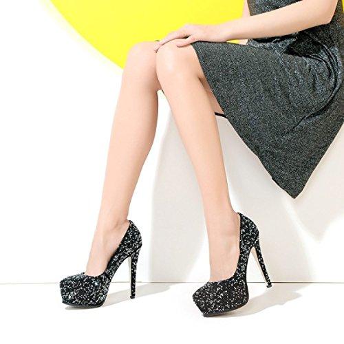 Bridal Women's Platform Rhinestone Shoes Party Shoes Stiletto Shoes Heels Dress Diamond Wedding heeled Black Black High White zrqTz