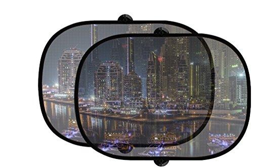 Dubai Night Style 2 2Pcs Foldable Auto Window Sunshade - Dubai Shades