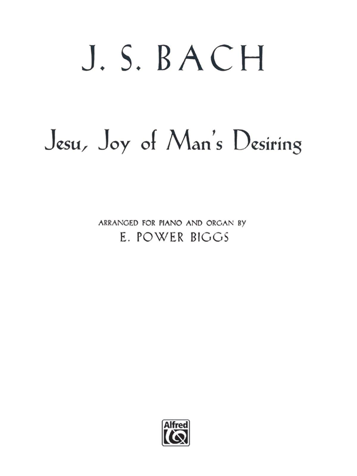 Jesu, Joy of Man's Desiring: Sheet (H. W. Gray) Sheet music – March 1, 1985