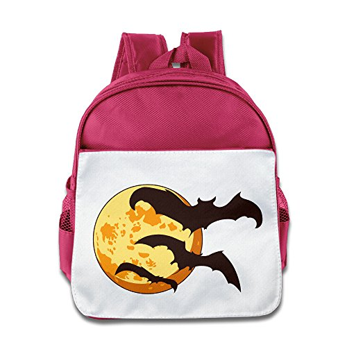 MoMo Unisex Halloween Moon Boy Girl School Bag For Little Kids