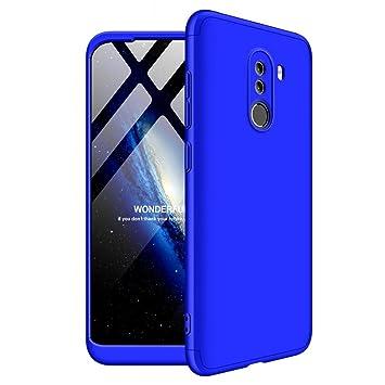 Solaxi Funda Xiaomi Pocophone F1 Carcasa Mate 3 en 1 360 Grados Cuerpo Completo Ultra Delgado PC Duro Superficie Antigolpes Anti-Arañazos [Protección ...