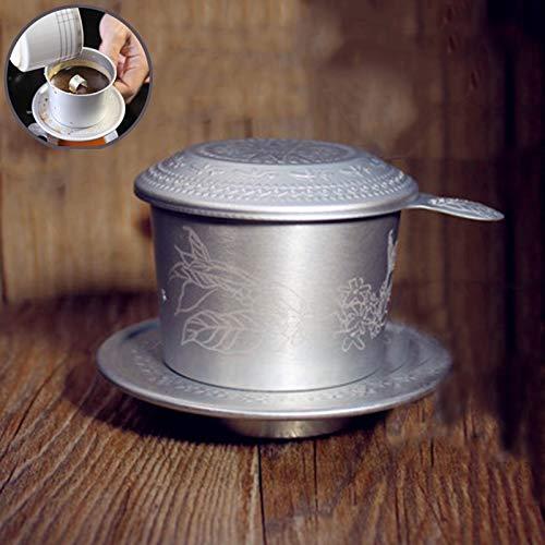 Cafetera de cerámica portátil de aluminio Vietnam con filtro de ...