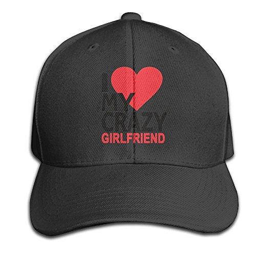 Mr.Roadman Unisex Peaked Cap I Love My Crazy Girlfriend Baseball Hip-hop Caps Vintage Adjustable Hats Cotton Trucker Caps for Women and Men, One Size by Mr.Roadman
