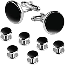 BodyJ4You Tuxedo Cufflinks Shirt Button Studs Mens Set Formal Business Classic Wedding Jewelry