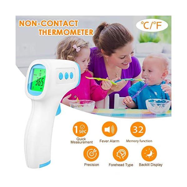 Termómetro Infrarrojo, Termómetro Digital, Termómetros de frente, Pantalla LCD Señal acústia para Adultos 10