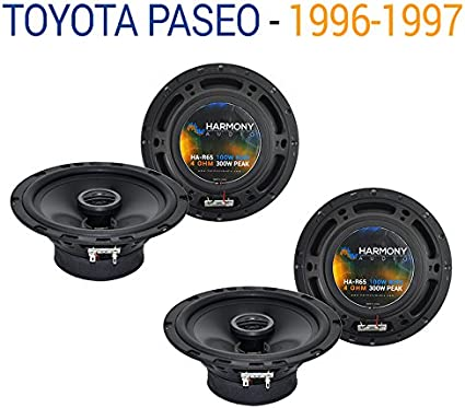 Fits Toyota Paseo 1996-1997 Rear Panel Replacement Harmony HA-R65 Speakers New