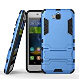 For [Huawei Y6 Pro] / Honor Play 5X / Enjoy 5 Case, Ougger Extreme Protection Shock Absorption [Kickstand] Armor Cover Tough PC + Soft TPU Cushion Rubber 2in1 Back Gear Rear Blue