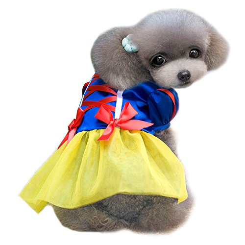 Alfie Pet Apparel by Petoga Couture - Snow White for Party Halloween Special Events Costume - Size: (Snow White Dog Costume)