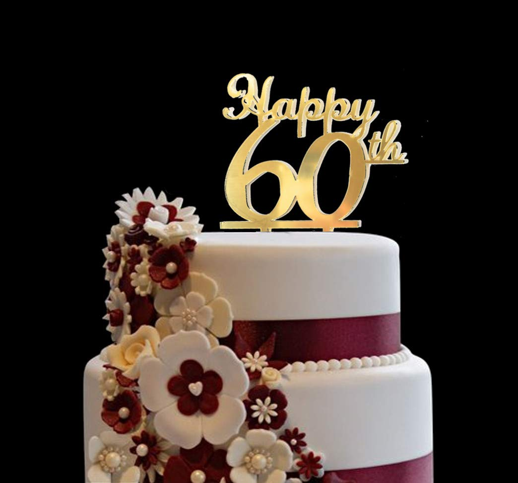 Prime Happy 50Th Shining Gold Cake Topper For Birthday Anniversary Birthday Cards Printable Opercafe Filternl