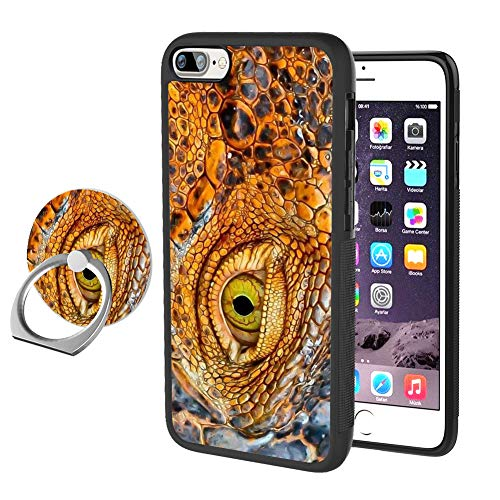 - YQCi Compatible with iPhone 7 Plus 8 Plus 360 Full Body Slim Cover Soft Flexible TPU Protector Skin with Ring Holder Stand for iPhone 7 Plus 8 Plus-Crocodile Eyes