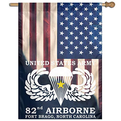 BESLASE United States Army 82nd Airborne Flag Garden Flag Family Flag Party Flag 100% Polyester Fiber Vertical Indoor Flag