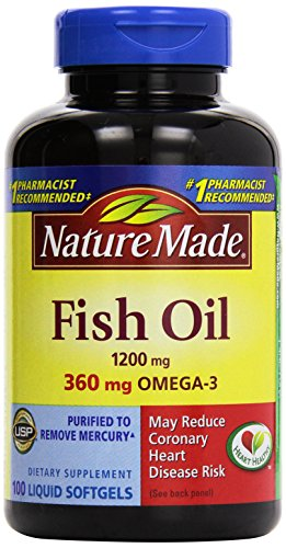 031604013288 - Nature Made Fish Oil Omega-3, 1200mg, 100 Softgels carousel main 0