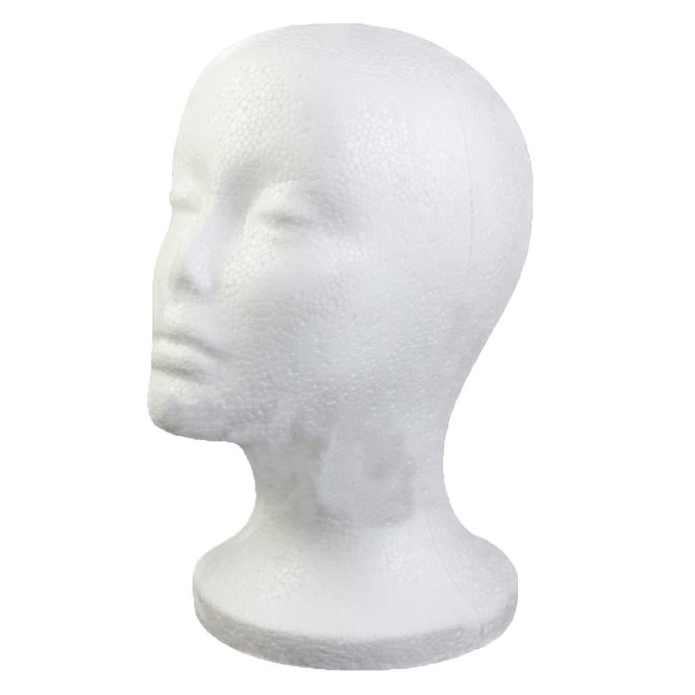 Thobu Female Foam Wig Hair Hat Glasses Display Mannequin Manikin Styrofoam Head Model