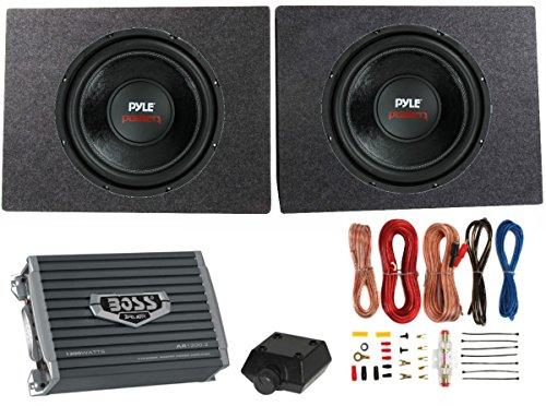 "2) PYLE 12"" 3200W Car Subwoofers PLPW12D +2 Ch Amplifier ..."
