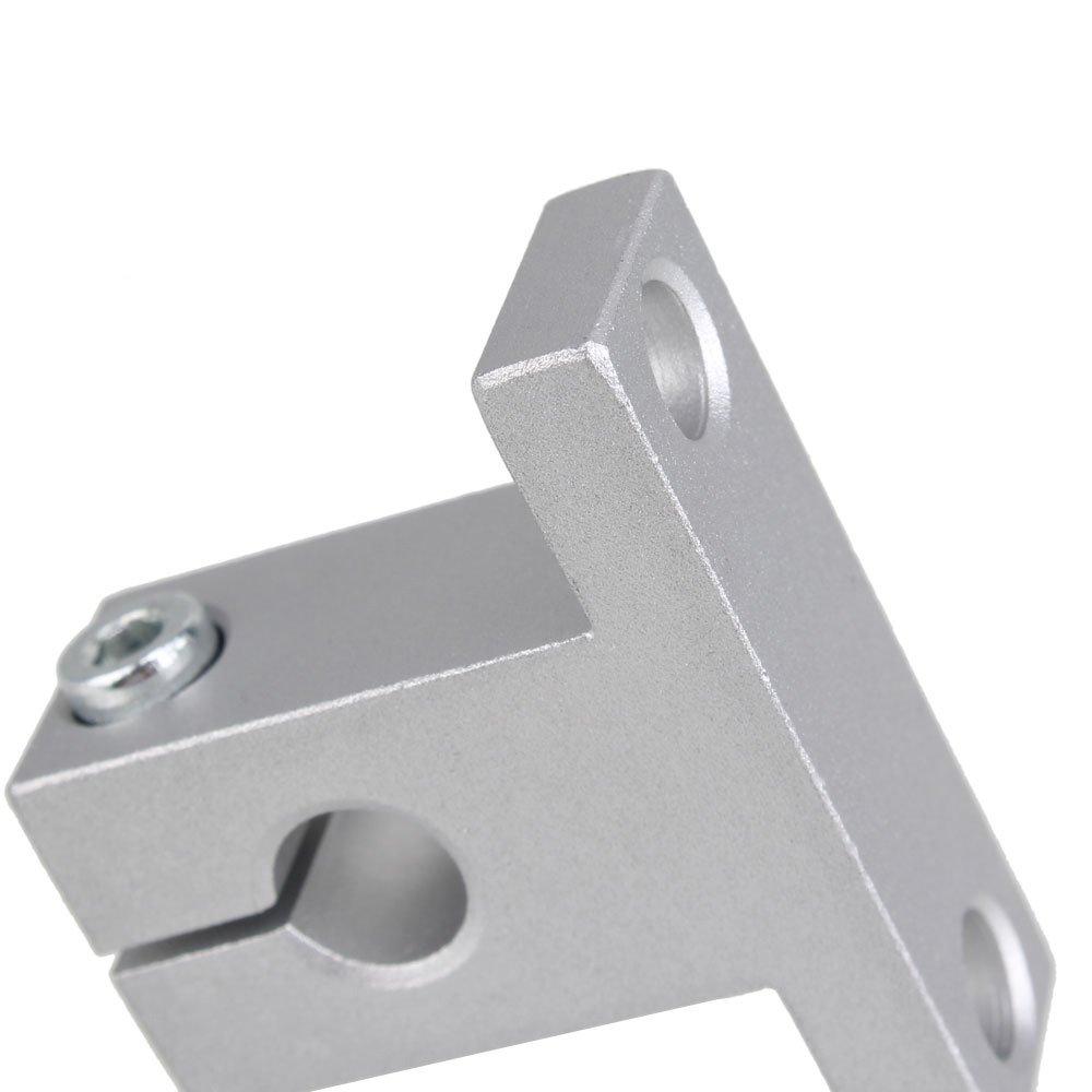 CNBTR 500mm Horizontale optische Achse /& 2mm Blei Schraube Dual Rail Welle St/ützkissen Block Bearings /& Flexible Welle Kupplung Set von 15