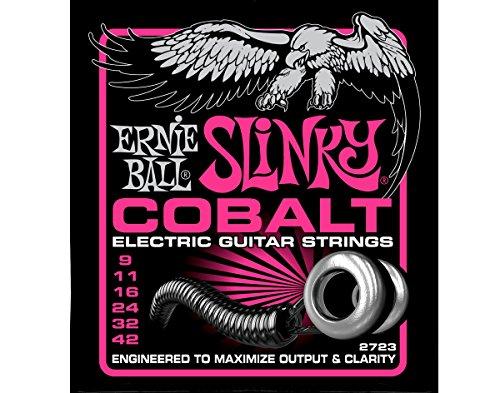Ernie Ball 2723 Cobalt Super Slinky Electric Guitar Strings - 3 PACK (9-42)
