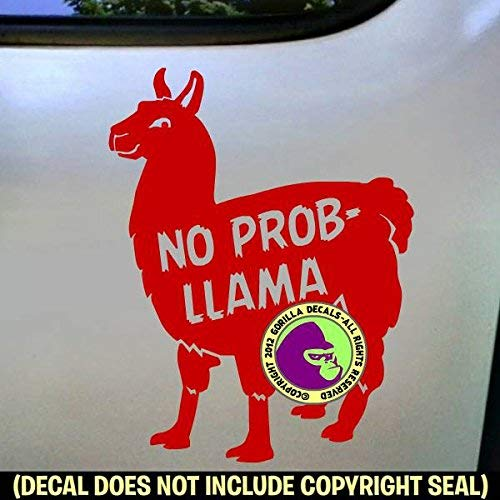 NO PROB LLAMA Vinyl Decal Sticker D