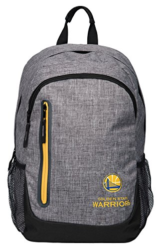 FOCO NBA Golden State Warriors Heather Grey Bold Color Backpack, Team Color, One Size