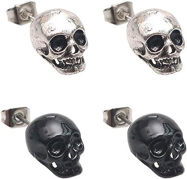 boucle d'oreille tête de mort 4