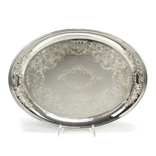Castle Court by Oneida, Silverplate Serving Tray, Chased Bottom