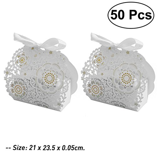 50Pcs Hollow Cross Style Wedding Candy Box Sweets Gift Favor Boxes With Ribbon Wedding Gifts For Guests Favors 6 -