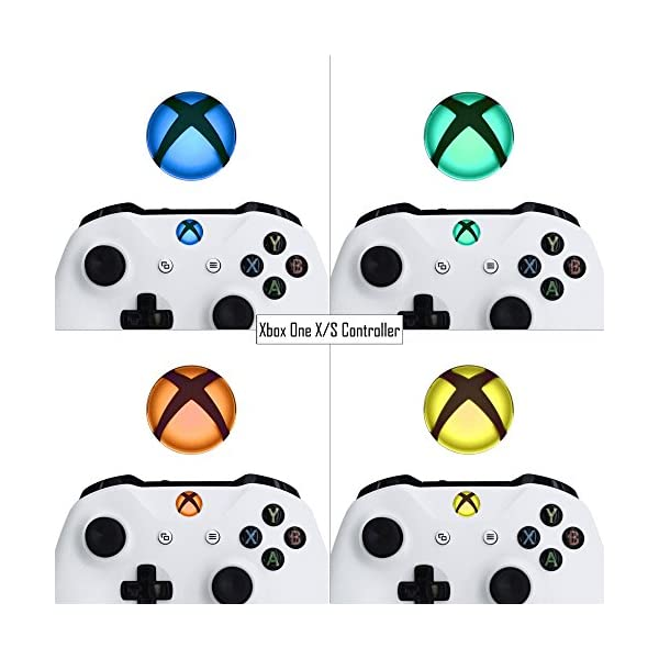 eXtremeRate Custom Home Guide Button LED Mod Stickers for Xbox One/S/Elite/X Controller with Tools Set - 40pcs in 8 Colors 4