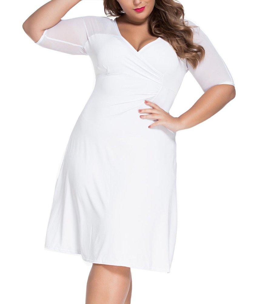 Vestido de Novia Mini Vestido Vestido para mujer Manga Corta Vestido Coctel Fiesta Vestido