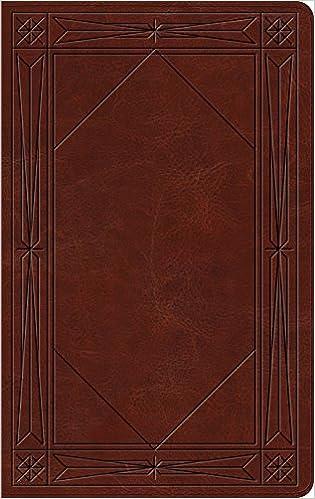 Esv Thinline Bible Trutone Brown Window Design Esv Bibles By
