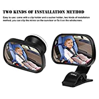 TiooDre WisFox Baby Car Mirror for Children Car Rearview Mirror for Baby and Mother Looking Forwards Adjustable View (Medium)
