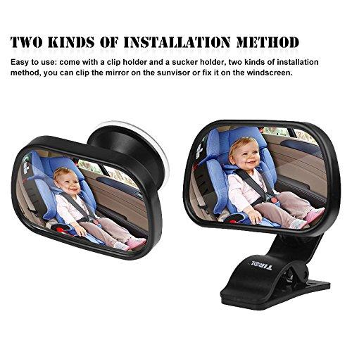 TiooDre Baby Auto Spiegel, Baby Bruchsichere Rückspiegel Rückwärts gerichtet Kind Sitz, Passt Jede Verstellbare Kopfstütze neigbar Drehen Funktion