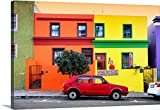 Canvas On Demand Philippe Hugonnard Premium Thick-Wrap Canvas Wall Art Print, 36'' x 24'', entitled 'Colorful Houses - Cape Town I'