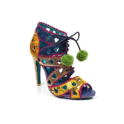 Poetic Licence by Irregular Choice Tease, Sandales Bout Ouvert Femme, Yellow Multi Jaune (Yellow Multi E)