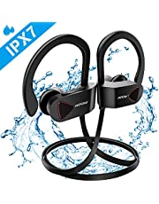 Mpow D8 Running Headphones Bluetooth, IPX7 [Up to 9 Hrs] PlayTime, Waterproof & Sweatproof, Hi-Fi Sports Wireless Headphones In-Ear Earphone, Noise Cancelling Mic for Sports/Gym/Workout/Communicate