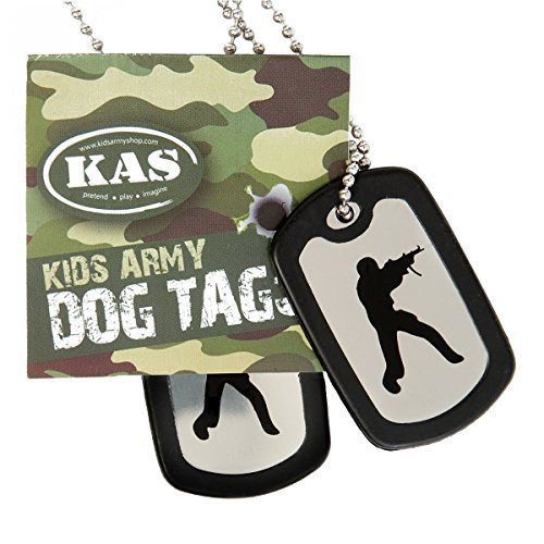 Kids Dog Tags (Army Dog Tags - Stainless Steel Military Dog Tags - Including Silencers - Kids /)