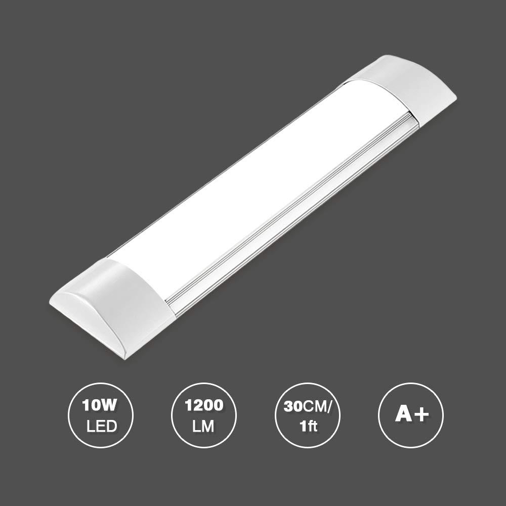 190-270V Bellanny R/églette LED 60cm Barre LED Meuble Cuisine 2400LM Luminaire Plafond Tube Led Blanc Chaud avec Supports Couvercle pour Cuisine Armoire Placard 20w