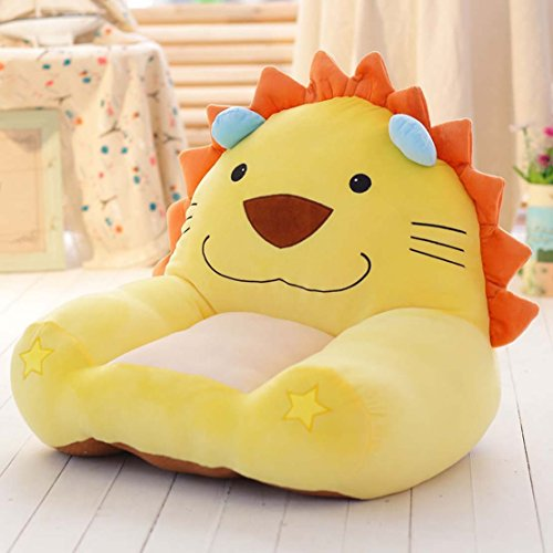 MAXYOYO Cute Lion Stuffed Plush Toy Bean Bag Chair,Cartoon Lion Velvet Sofa Seat,Soft Hairy Tatami Chairs for Boys and Girls (lion 1)