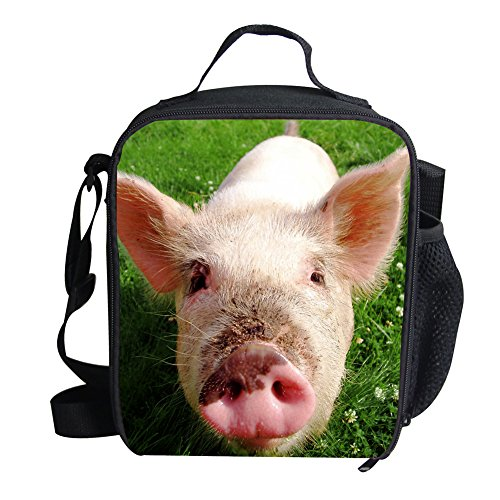 Mumeson Cute Pig Print Thermal Lunch Bags Insulted Lunchbox Tote Handbag School Pinic Travel Lunchbag