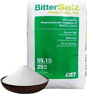 Natural Pure Epsom Salt 25kg German Bittersalz