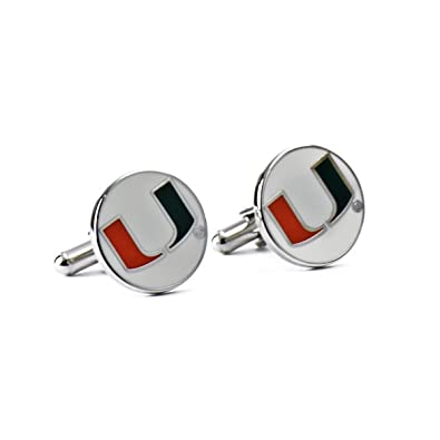 Completely new Amazon.com: University of Miami Hurricanes Cufflinks: Jewelry NF67