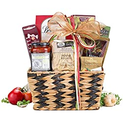 Wine Country Gift Baskets Taste of Italy Gourmet Gift Basket For Friends, Family, Business Gift, Celebration Gift, Anniversary Gift, Holiday Gift Basket