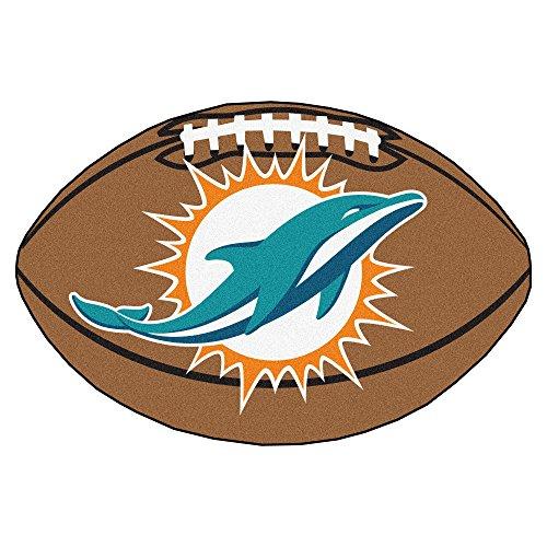 FANMATS NFL Miami Dolphins Nylon Face Football Rug