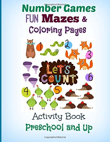 Number Games FUN Mazes and Coloring Pages: Activity