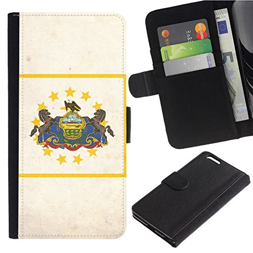 [Vintage/Grunge/Dirt Flag of Rhode Island] for ZTE Zmax Pro, Flip Leather Wallet Holsters Pouch Skin Case