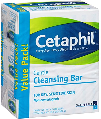 Cetaphil Gentle Cleansing Bar, 4.5 oz bars, 3 ea (Pack of 4)