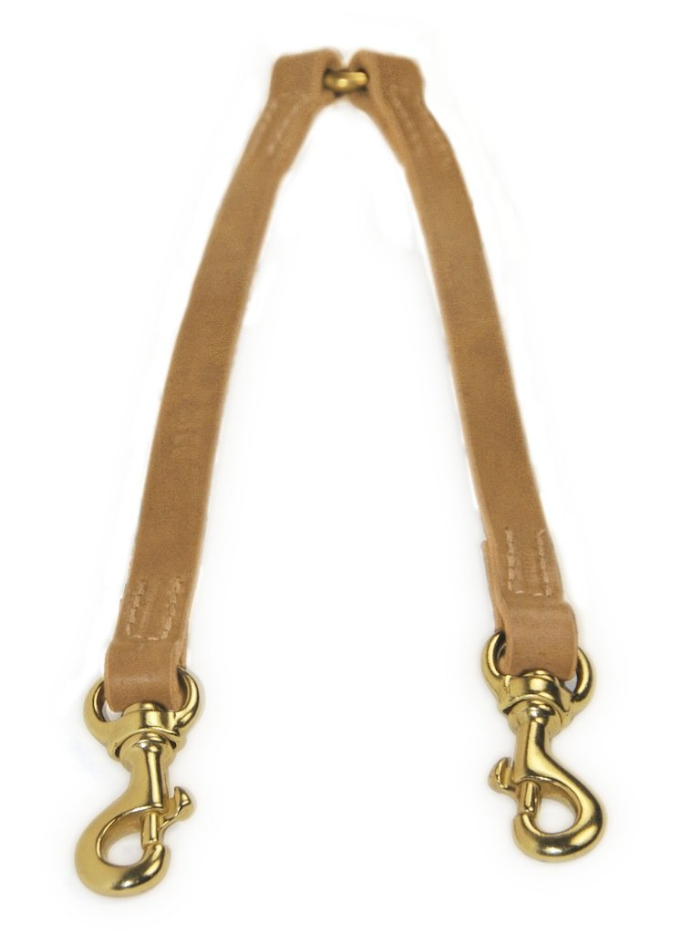 Dean & Tyler Split Personality Brass Snap Leash, 3-Feet by 1 2-Inch, Tan