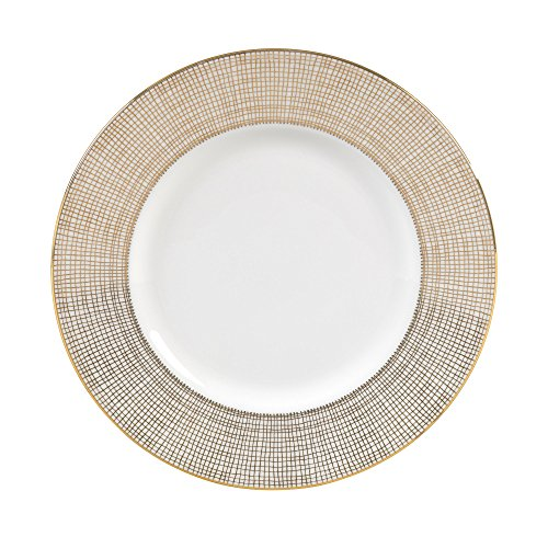 (Wedgwood Gilded Weave Rim Soup Plate, 9